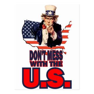 No ensucie con los E.E.U.U. Tarjetas Postales