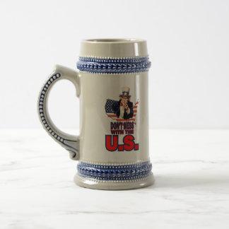 No ensucie con los E.E.U.U. Jarra De Cerveza