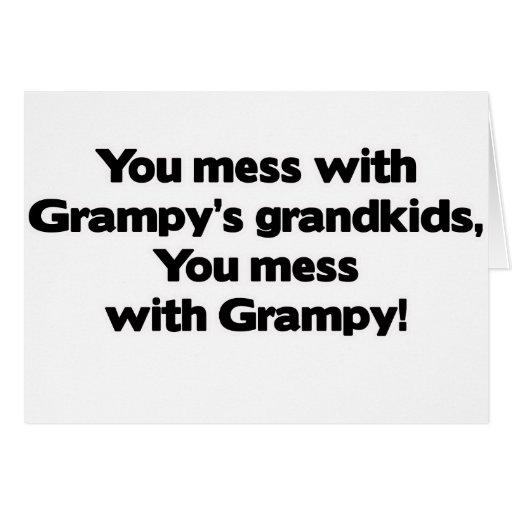 No ensucie con los Grandkids de Grampy Tarjeton