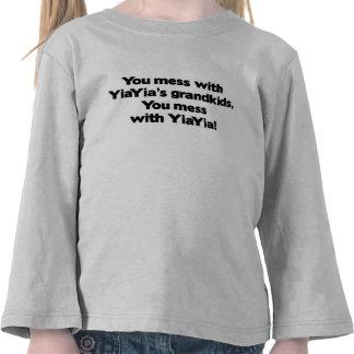 No ensucie con los Grandkids de YiaYia Camiseta