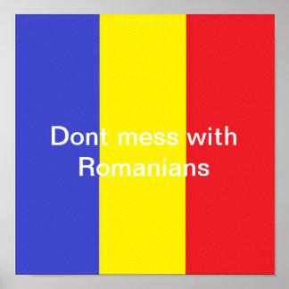 No ensucie con los rumanos impresiones