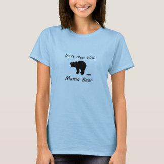 No ensucie con mamá Bear Playera