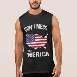 No ensucie con 'Merica Camiseta Sin Mangas