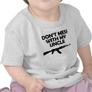 No ensucie con mi tío camiseta