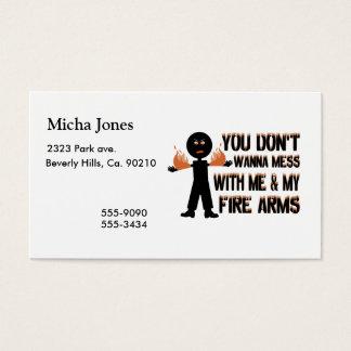 No ensucie con mis armas del fuego tarjeta de negocios