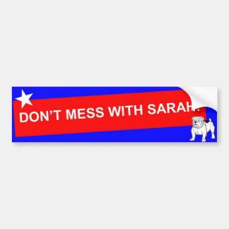 ¡NO ENSUCIE CON SARAH! - Modificado para requisito Pegatina De Parachoque