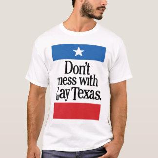 No ensucie con Tejas gay Playera