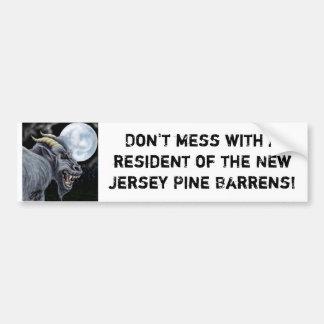 No ensucie con un residente del Ne… Etiqueta De Parachoque