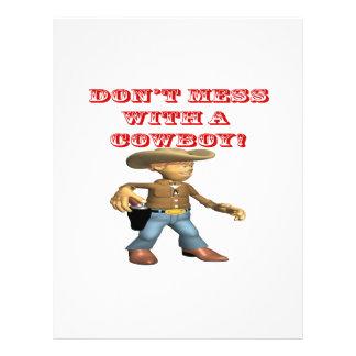 No ensucie con un vaquero tarjeton