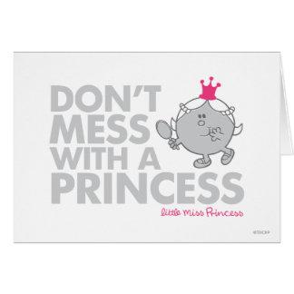 No ensucie con una princesa tarjeton