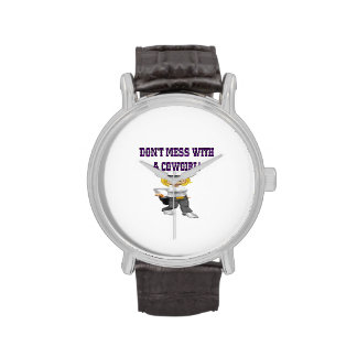 No ensucie con una vaquera relojes de mano