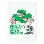 No ensucie con verde invitación 12,7 x 17,8 cm