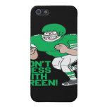 No ensucie con verde iPhone 5 protectores