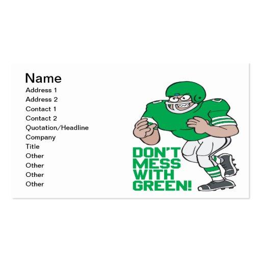 No ensucie con verde tarjetas de visita