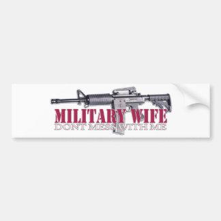 no ensucie conmigo (la esposa militar) pegatina para auto