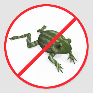No Entrance for Melongfrogs! Classic Round Sticker