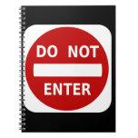 No entre en el cuaderno de la muestra