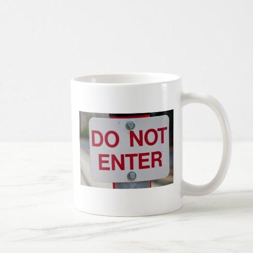 No entre en la taza de la muestra