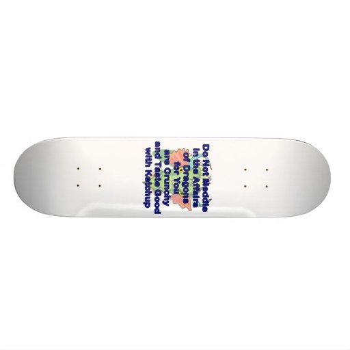 No entrometerse la cabeza azul del dragón tablas de skate