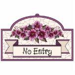 """No Entry"" - Decorative Sign - 11 Photo Sculpture"