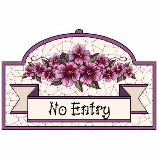 """No Entry"" - Decorative Sign - 11 Photo Sculpture Ornament"
