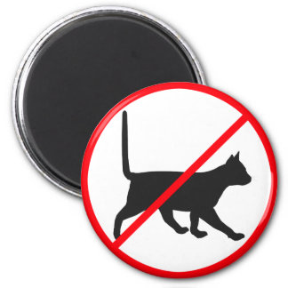 No Entry For Cats! Magnet