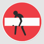 No entry man sticker