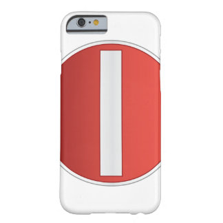 No entry road sign barely there iPhone 6 case