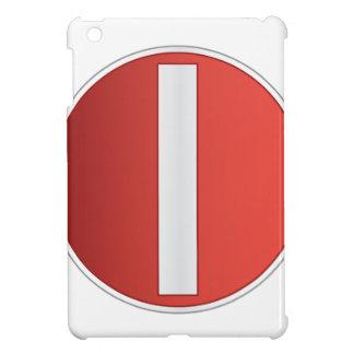 No entry road sign iPad mini cases
