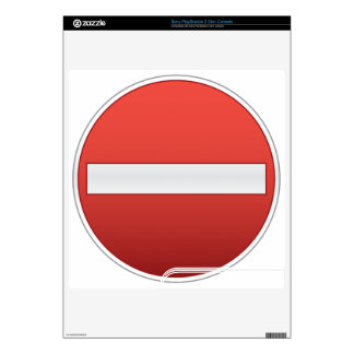 No entry road sign skin for the PS3 slim