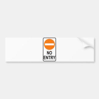 No Entry Road Sign Traffic Cartoon Graphic Design Bumper Sticker