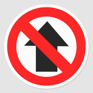 No Entry Sign Icon Classic Round Sticker