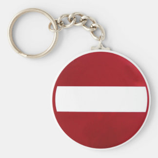 No Entry Sign Keychain
