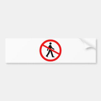 No Entry Symbol Bumper Sticker