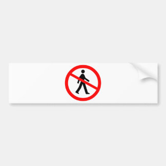 No Entry Symbol Car Bumper Sticker