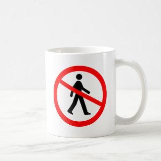 No Entry Symbol Classic White Coffee Mug