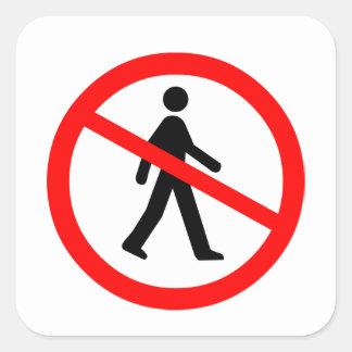No Entry Symbol Square Sticker