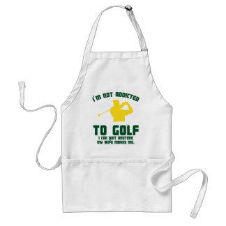 No enviciado al golf delantal