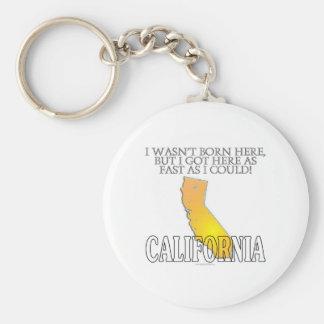 No era aquí nacida… California Llavero Redondo Tipo Pin
