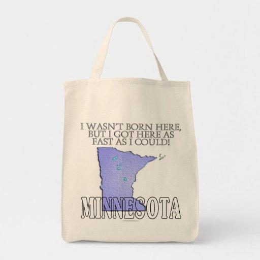 No era aquí nacido… Minnesota Bolsa Lienzo
