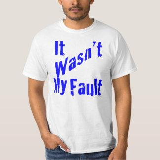 No era mi camiseta de la falta