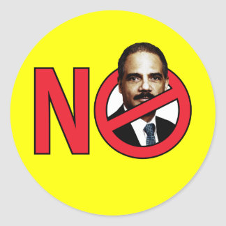 No Eric Holder Classic Round Sticker