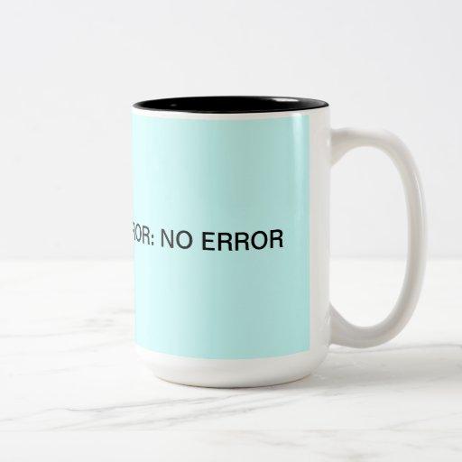 No Error Error Code Two-Tone Coffee Mug