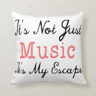 No es apenas música, él es mi escape - cita cojin