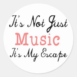 No es apenas música, él es mi escape - cita etiquetas redondas