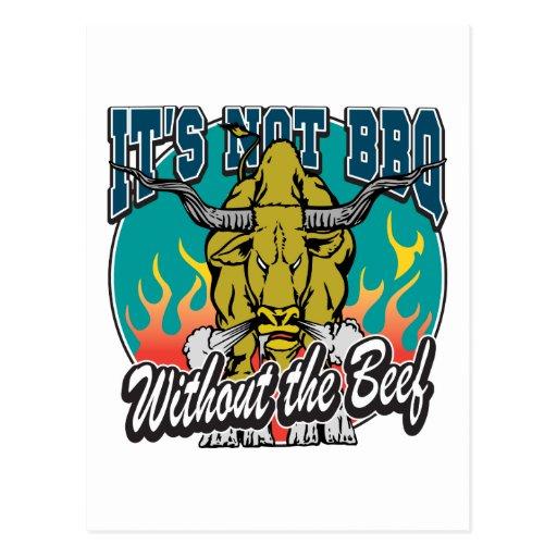 No es Bbq sin carne de vaca Postal