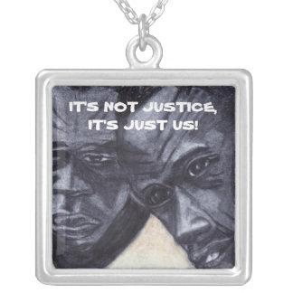 No es collar del arte del negro de la JUSTICIA
