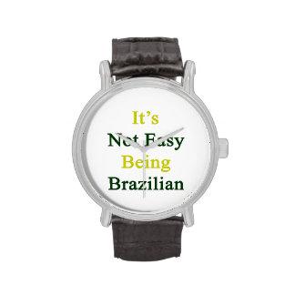 No es el ser fácil brasileño relojes