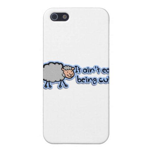 No es el ser fácil oveja cómica linda iPhone 5 coberturas
