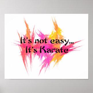 No es fácil - impresión rosada del poster del kara
